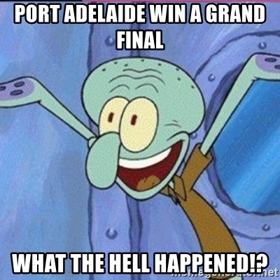 calamardo me vale - PORT ADELAIDE WIN A GRAND FINAL WHAT THE HELL HAPPENED!?