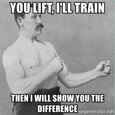 old man boxer  - You lift, I'll train Then I will show you the difference