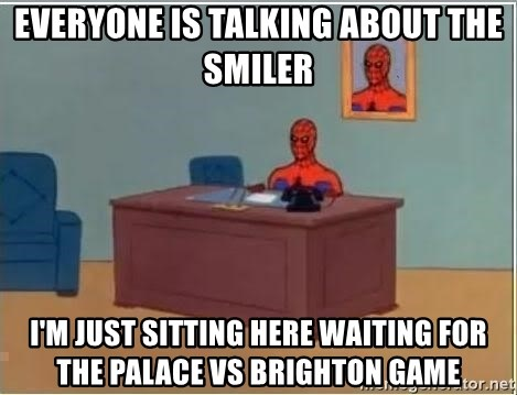 Spiderman Desk - Everyone is talking about the smiler I'm just sitting here waiting for the Palace vs brighton game