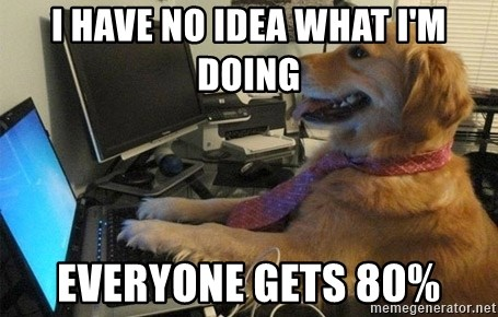 I have no idea what I'm doing - Dog with Tie - I have no idea what i'm doing everyone gets 80%