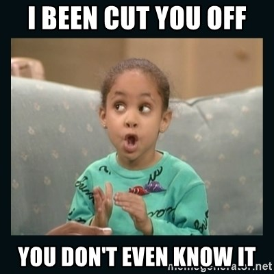 Raven Symone - I been cut you off you don't even know it