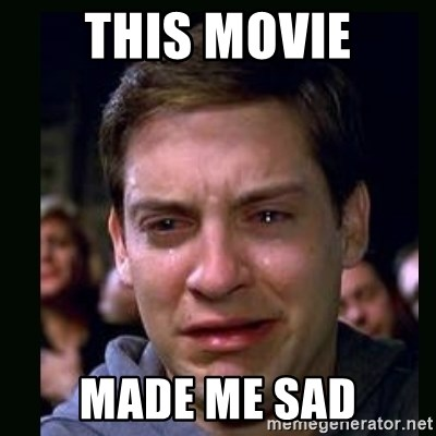 crying peter parker - THIS MOVIE MADE ME SAD