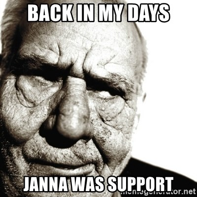 Back In My Day - Back in my days Janna was support