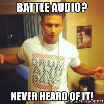 Drum And Bass Guy - battle audio? never heard of it!