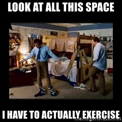 stepbrothers - Look at all this space I have to actually exercise