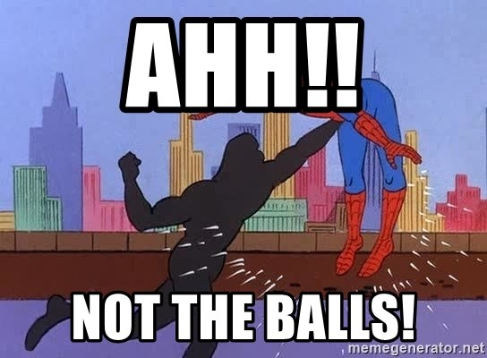 crotch punch spiderman - AHH!! NOT THE BALLS!