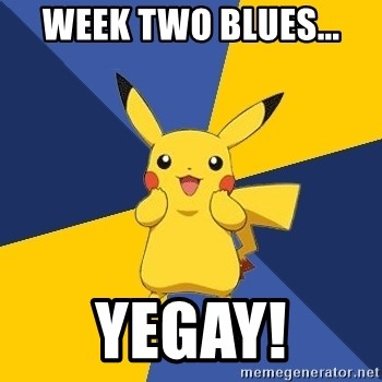Pokemon Logic  - Week two Blues... YEGAY!