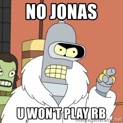 bender blackjack and hookers - NO JONAS  U WON'T PLAY RB