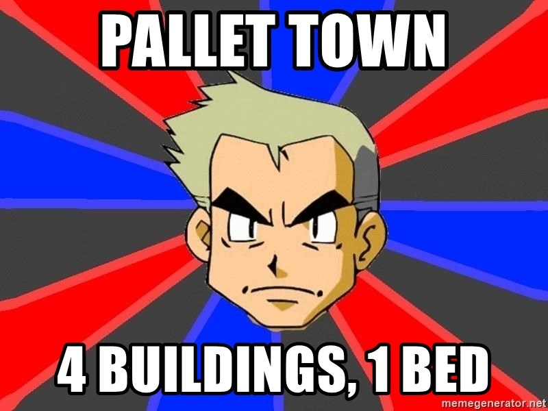 Professor Oak - Pallet Town 4 buildings, 1 bed