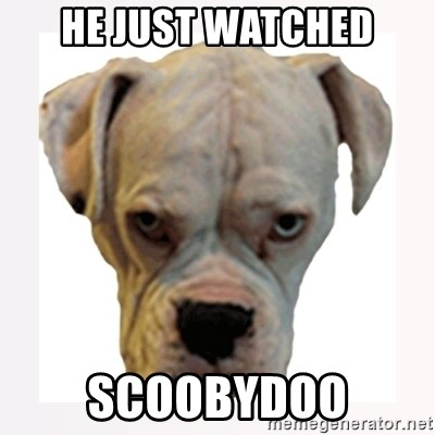stahp guise - HE JUST WATCHED SCOOBYDOO