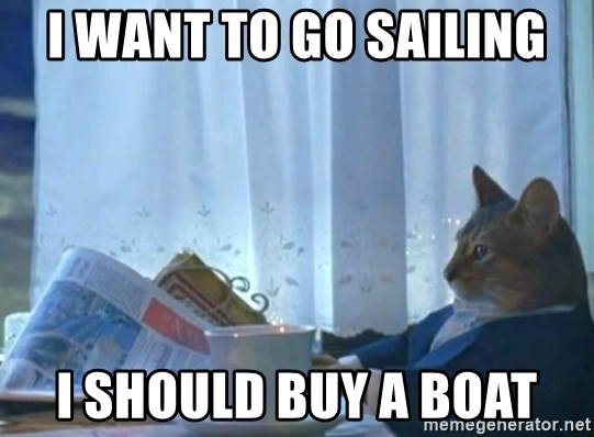 Sophisticated Cat - I want to go sailing I should BuY a boat