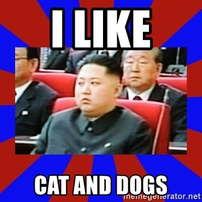 kim jong un - I LIKE CAT AND DOGS