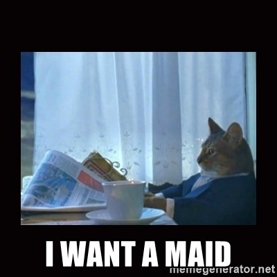 i should buy a boat cat -  I want a maid