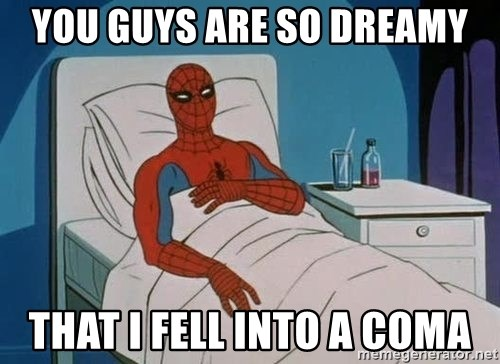 spiderman hospital - yOU GUYS ARE SO DREAMY THAT I FELL INTO A COMA
