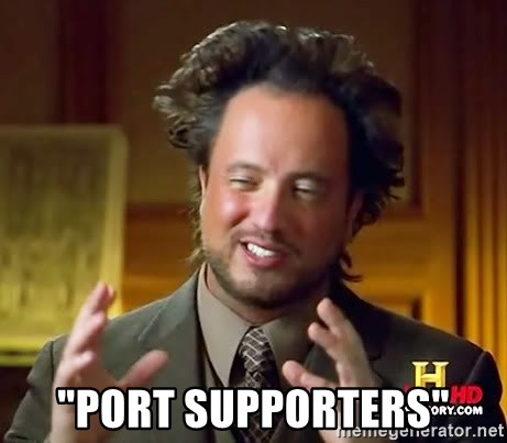 """Ancient Aliens -  """"port supporters"""""""