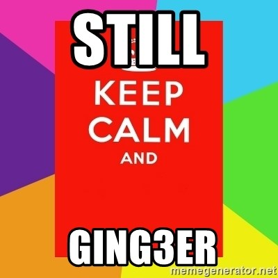 Keep calm and - still  ging3er