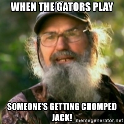 Duck Dynasty - Uncle Si  - When the gators Play Someone's GettiNg chOmped jack!