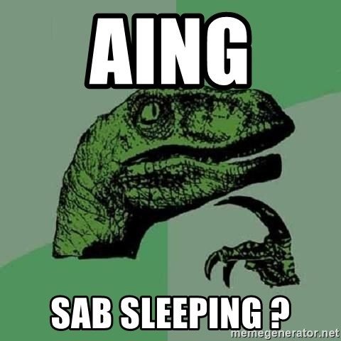 Philosoraptor - aing  sab sleeping ?