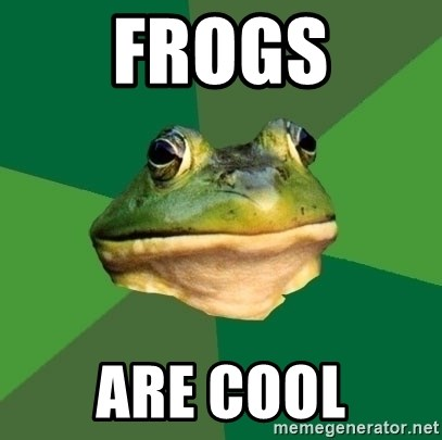Foul Bachelor Frog - FROGS ARE COOL