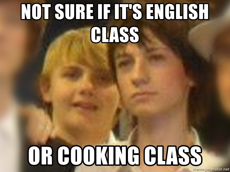 Thoughtful Child - NOT SURE IF IT'S ENGLISH CLASS OR COOKING CLASS