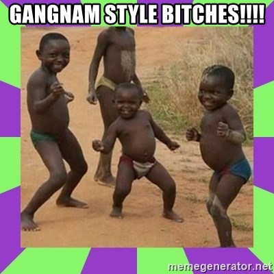 african kids dancing - GANGNAM STYLE BITCHES!!!!
