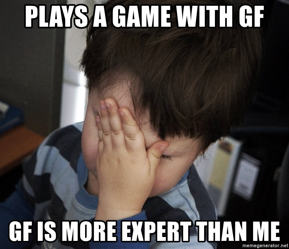 Confession Kid - plays a game with gf gf is more expert than me