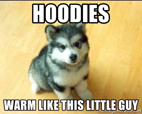 Baby Courage Wolf - Hoodies Warm like this little guy
