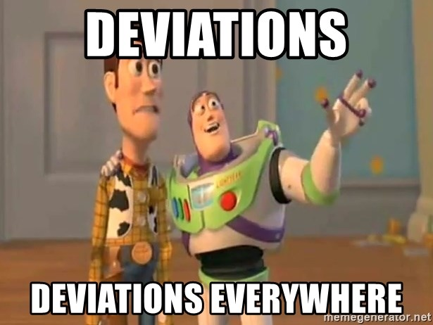 X, X Everywhere  - Deviations Deviations everywhere