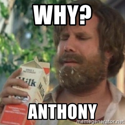 Milk was a bad choice - WHY? ANTHONY