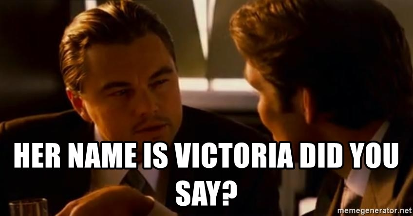 Squinting Leonardo Dicaprio -  HER NAME IS VICTORIA Did you say?