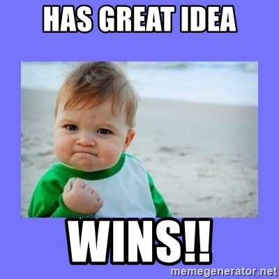 Baby fist - Has great idea wins!!