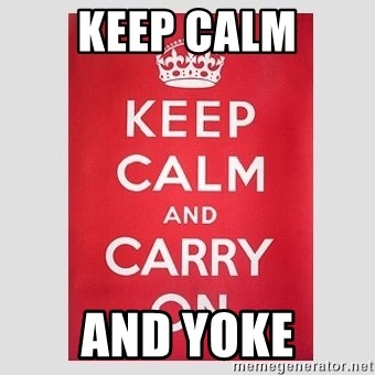Keep Calm - keep calm and yoke