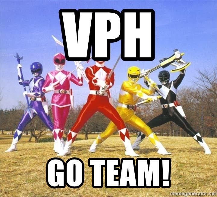 Power Ranger meme - VPH GO TEAM!