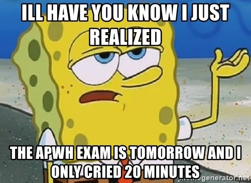 Only Cried for 20 minutes Spongebob - Ill have you know i juSt realized  The apwh exam is tomorrow and i only cried 20 minutes