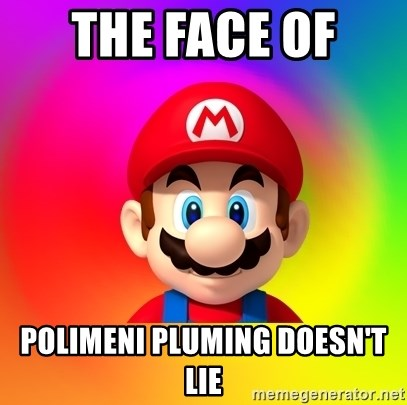 Mario Says - THE FACE OF  POLIMENI PLUMING DOESN'T LIE