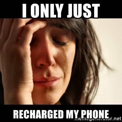 crying girl sad - I ONLY JUST  RECHARGED MY PHONE