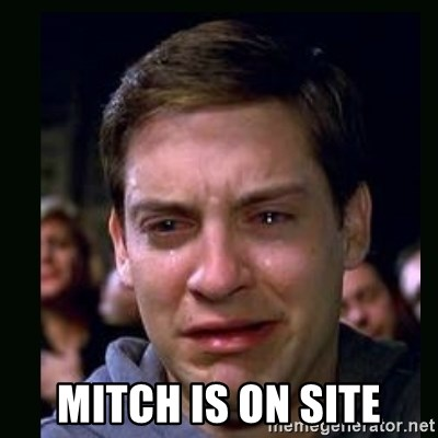 crying peter parker -  MITCH IS ON SITE