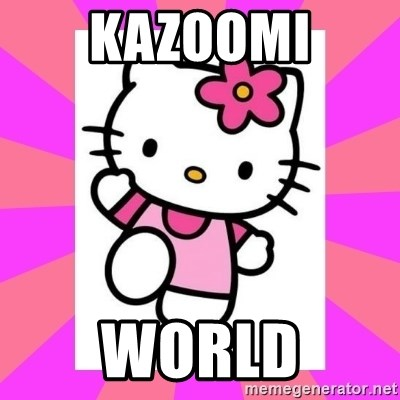 Hello Kitty - Kazoomi world