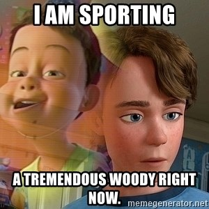 PTSD Andy - I am sporting a tremendous Woody right now.