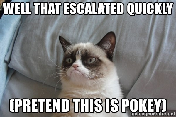 Grumpy cat good - Well that Escalated quickly (PRetend this is pokey)