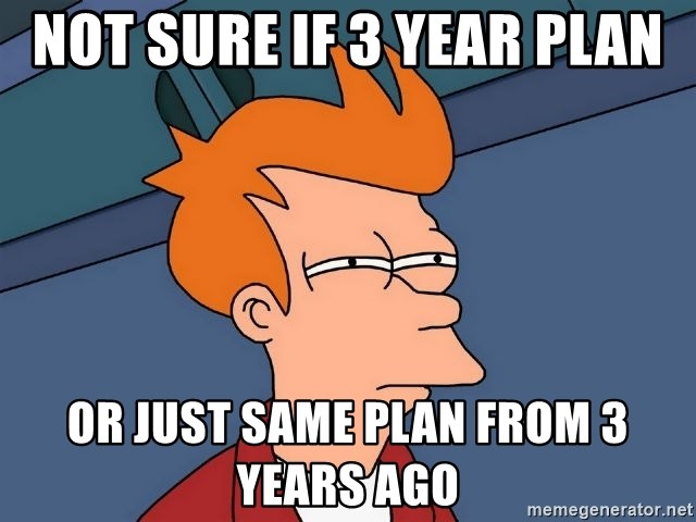 Futurama Fry - Not Sure if 3 year plan or just same plan from 3 years ago