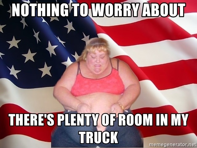 Asinine America - NOTHING TO WORRY ABOUT THERE'S PLENTY OF ROOM IN MY TRUCK