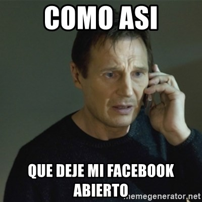 I don't know who you are... - como asi que deje mi facebook abierto