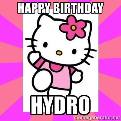 Hello Kitty - Happy birthday  Hydro
