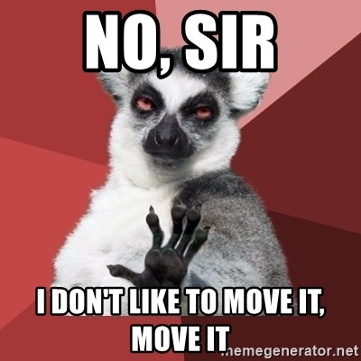 Chill Out Lemur - No, sir I don't like to move it, move it