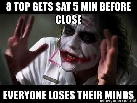 joker mind loss - 8 TOP GETS SAT 5 MIN BEFORE CLOSE EVERYONE LOSES THEIR MINDS