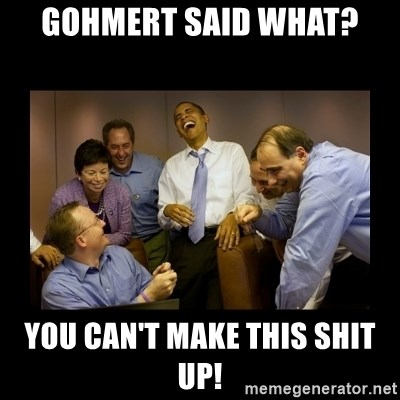 obama laughing  - gohmert said what? you can't make this shit up!