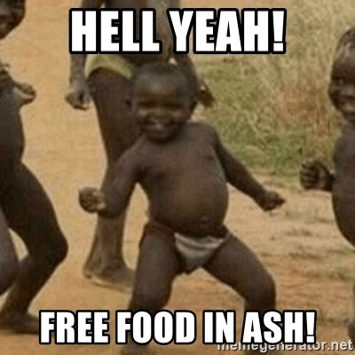 Little Black Kid - HELL YEAH! Free food in ASh!