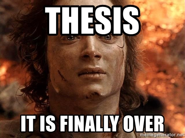 Frodo  - thesis It is finally over