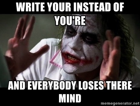 joker mind loss - WRITE YOUR INSTEAD OF YOU'RE AND EVERYBODY LOSES THERE MIND